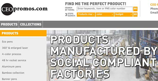 ceo promos socially responsible manufacturing