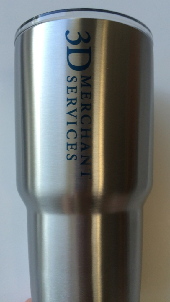 Yeti Rambler personalized with custom logo.