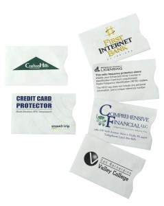custom rfid sleeve promotional products