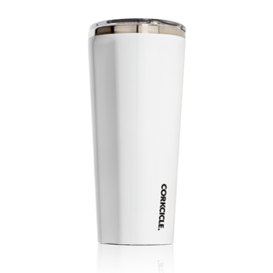 corkcicle tumbler 24oz glosswhite side