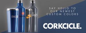 custom logo corkcicle tumblers
